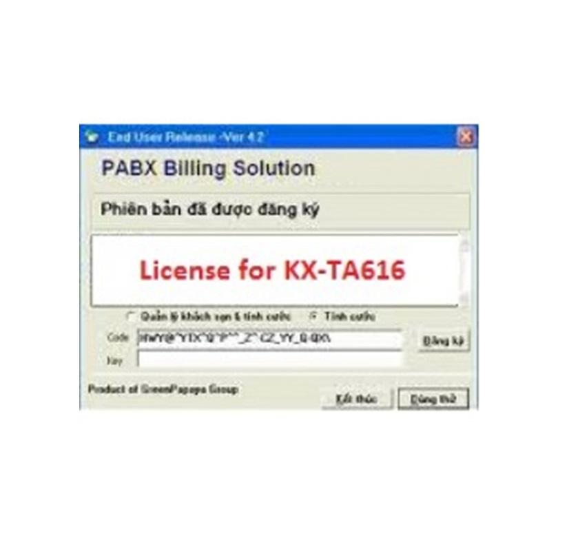 Phần mềm KX-TA616