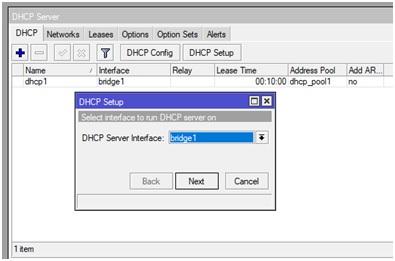 Tạo DHCP cho modem Mikrotik