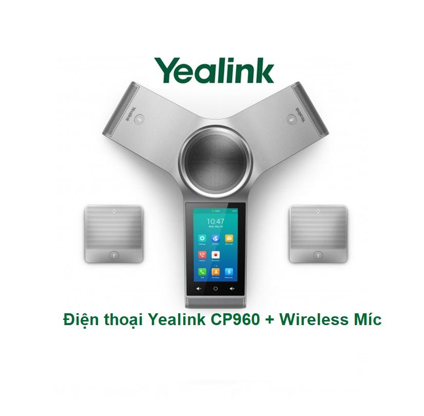 Điện thoại hội nghị Yealink CP960 Wireless Míc