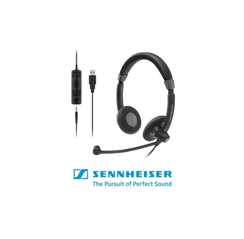 tai nghe callcenter Sennheiser SC75 CTRL