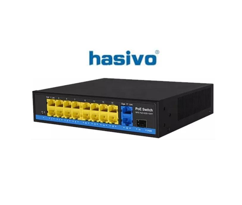 Switch PoE Hasivo S2600P-16F-2G-1S-SE