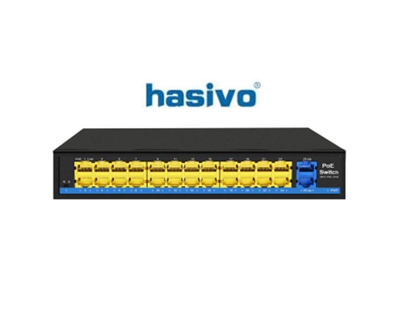 Switch PoE Hasivo S2800P-24F-2G-SE