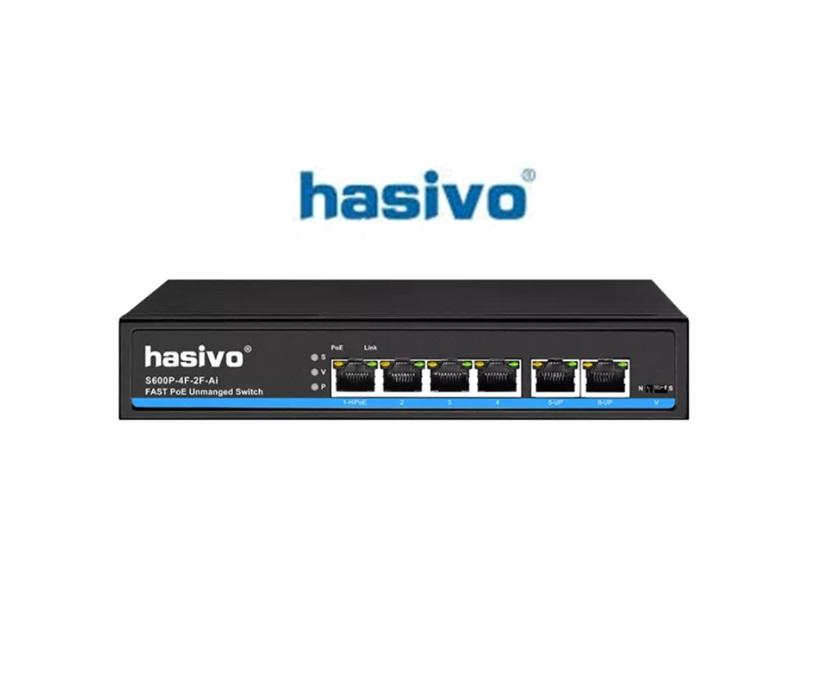 Switch PoE Hasivo S600P-4F-2F-AI