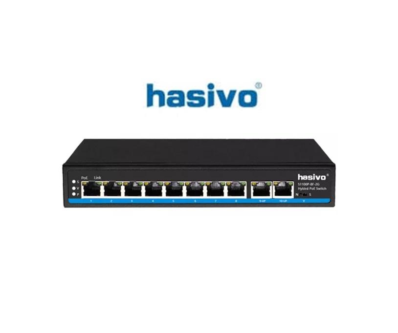 Switch PoE Hasivo S1100P-8F-2G-AI