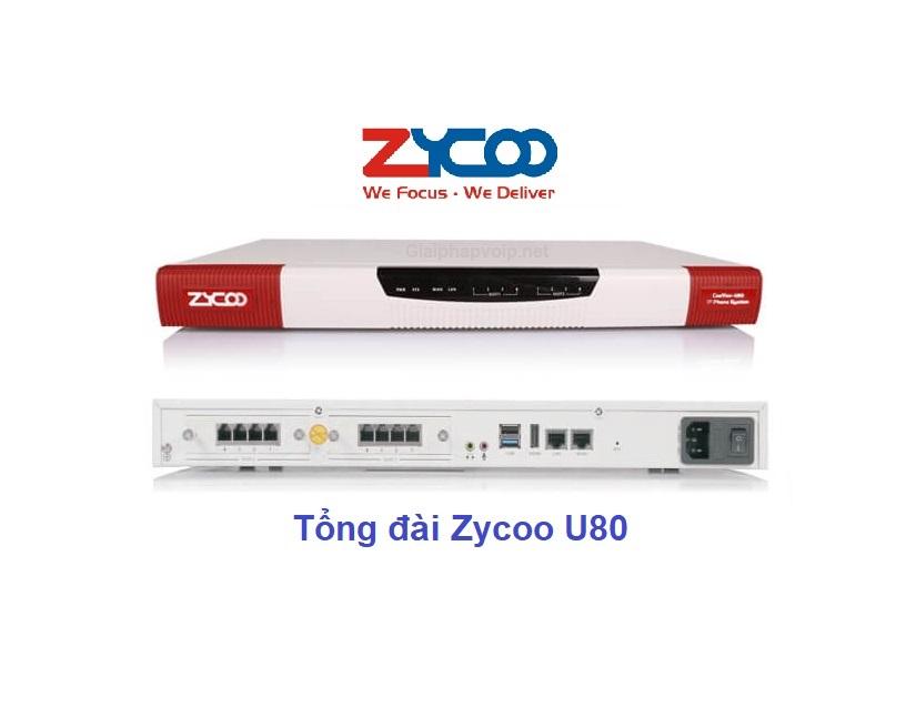 Tổng đài ip Zycoo U80