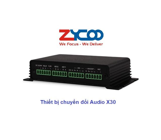 bộ chuyển đổi âm thanh gateway Zycoo X30